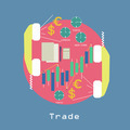 Business Trade around the world Economic concept with graphics and currency symbols - PhotoDune Item for Sale