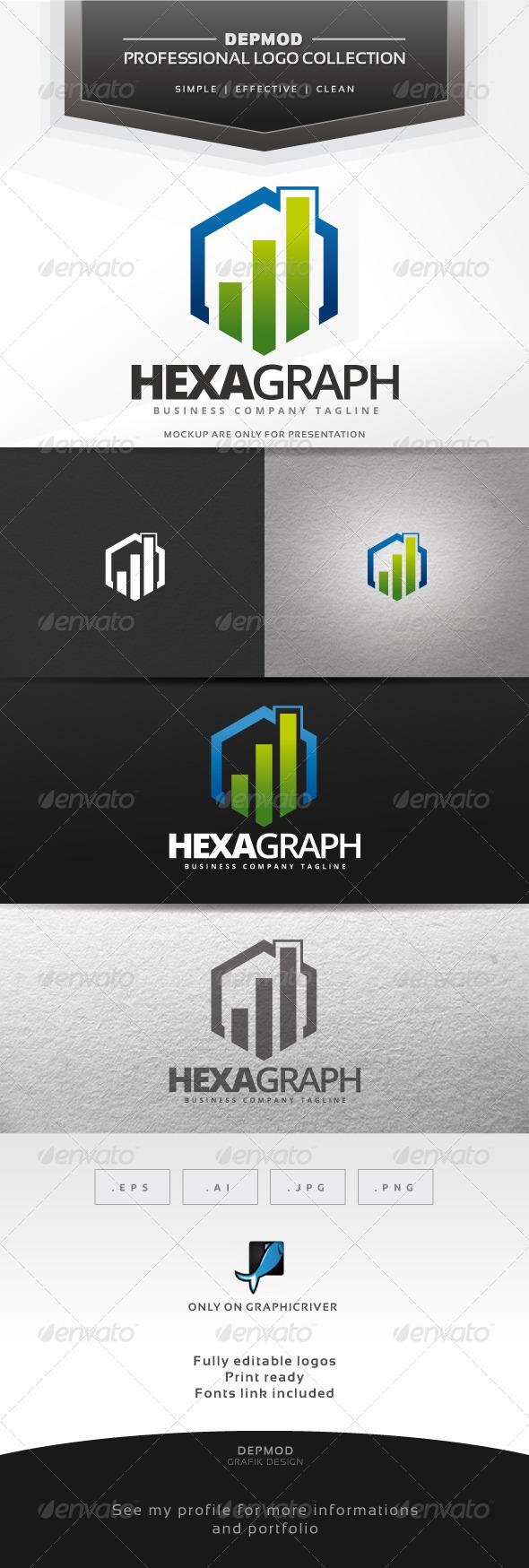 GraphicRiver Hexa Graph Logo 6906012