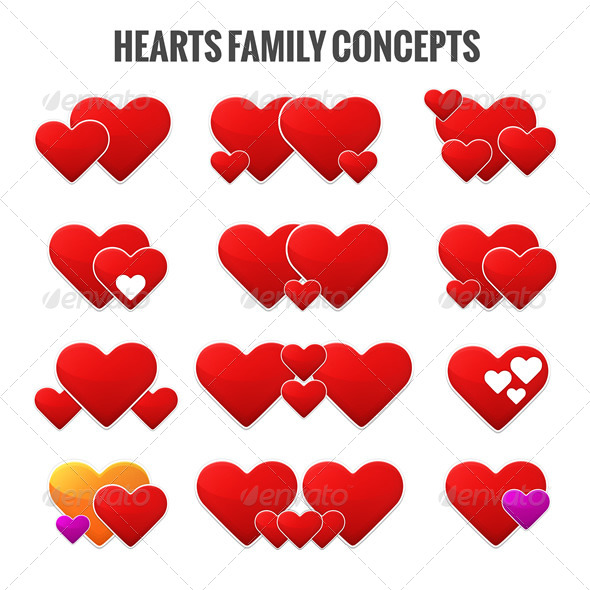 GraphicRiver Hearts Family Concepts 6906051