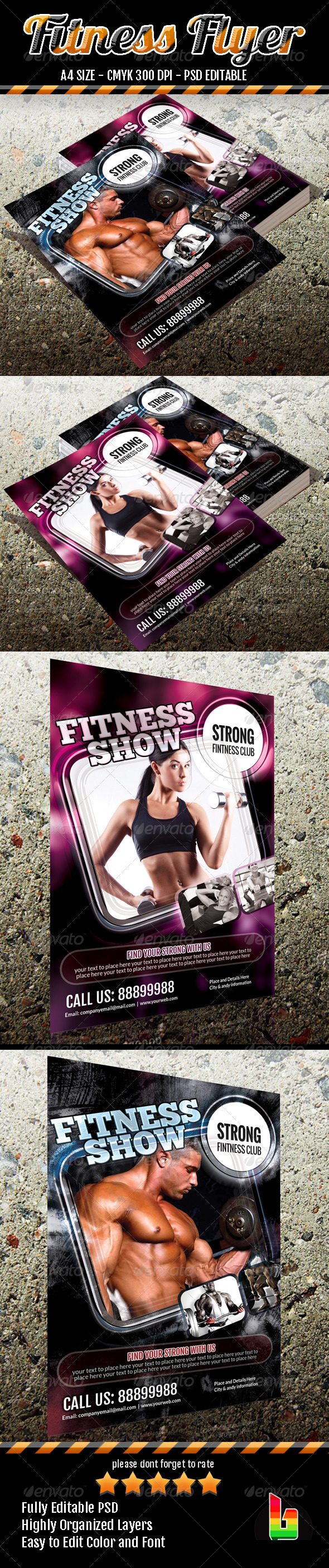 GraphicRiver Fitness Flyer 6906056