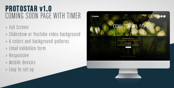 ThemeForest Protostar Coming Soon Countdown Fullscreen Page 6862359