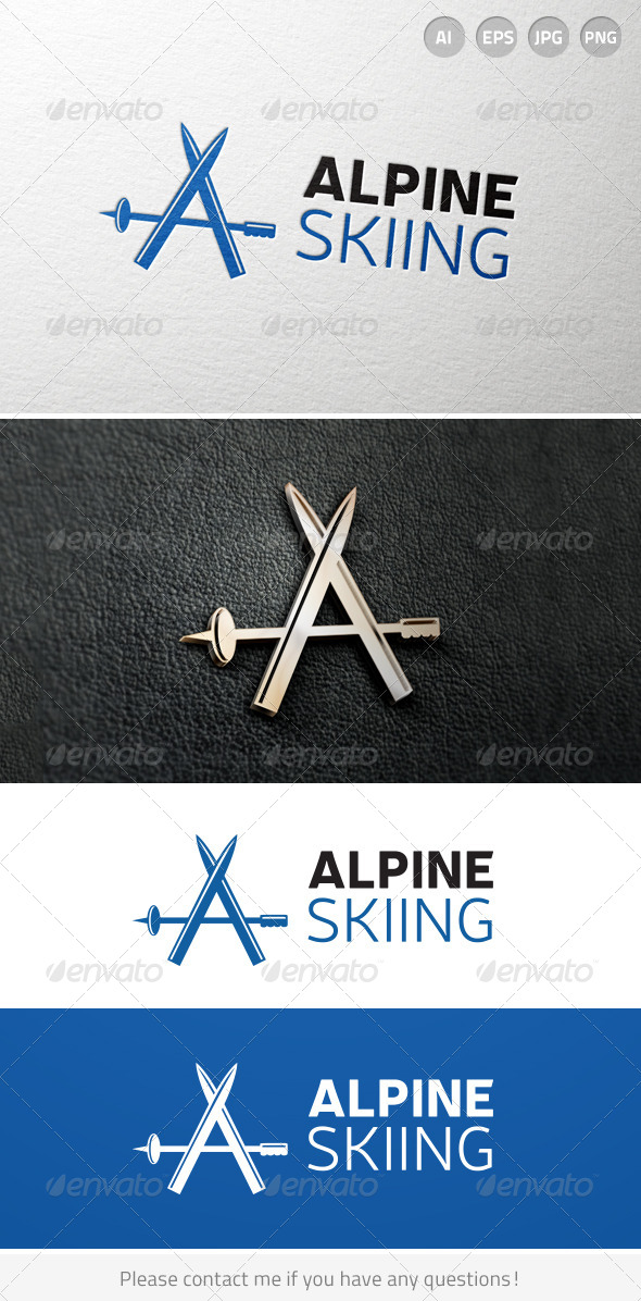 GraphicRiver Alpine Mountain Skiing Resort Logo 6906161