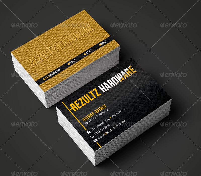 hardware business card template by godserv