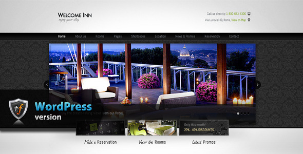 ThemeForest Welcome Inn Hotel WordPress Theme 6906263