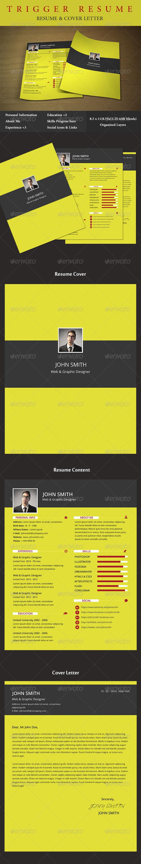 GraphicRiver Trigger Resume 6896790