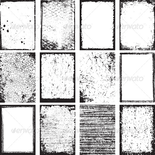 GraphicRiver Vector Grunge Backgrounds and Frames 6906900
