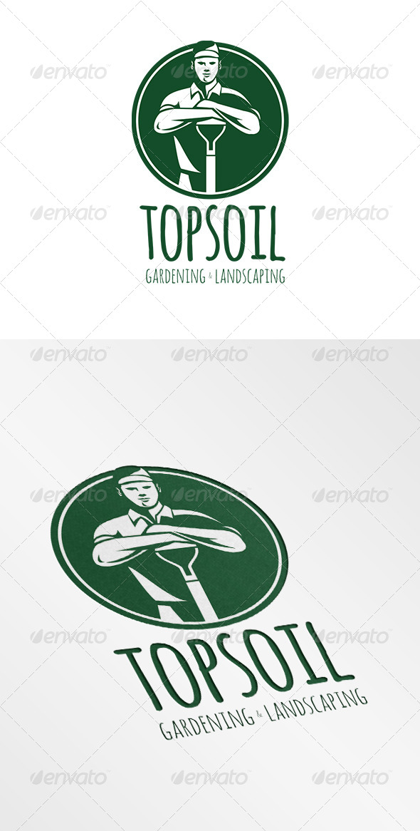 GraphicRiver Top Soil Gardening and Landscaping Logo 6906953