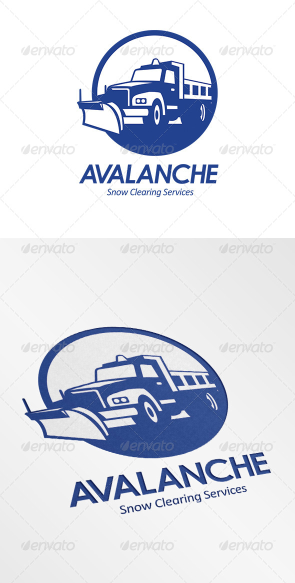 GraphicRiver Avalanche Snow Removal Services Logo 6907088