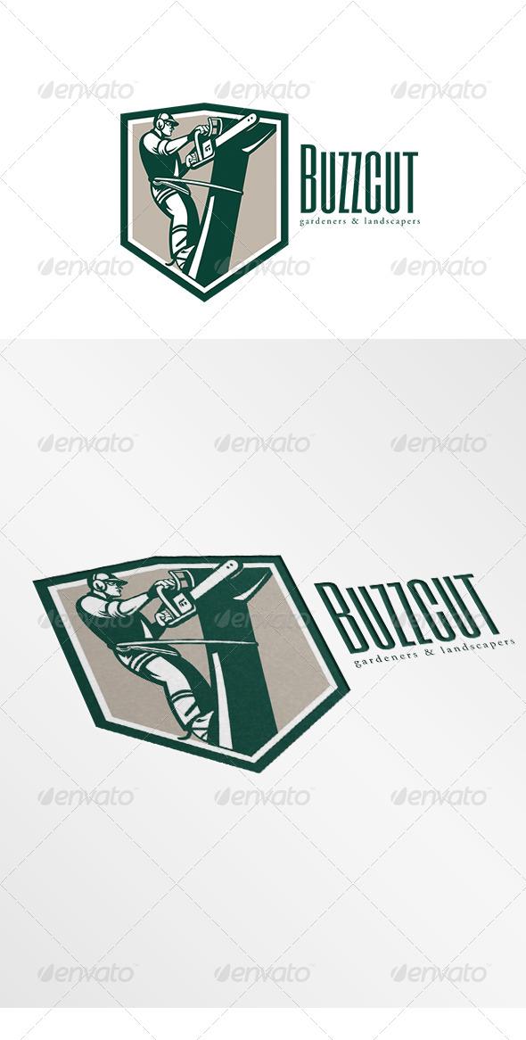 GraphicRiver Buzz Cut Gardening Landscaper Logo 6907172