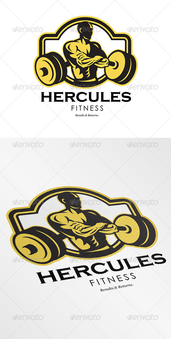 GraphicRiver Hercules Fitness Logo 6907178