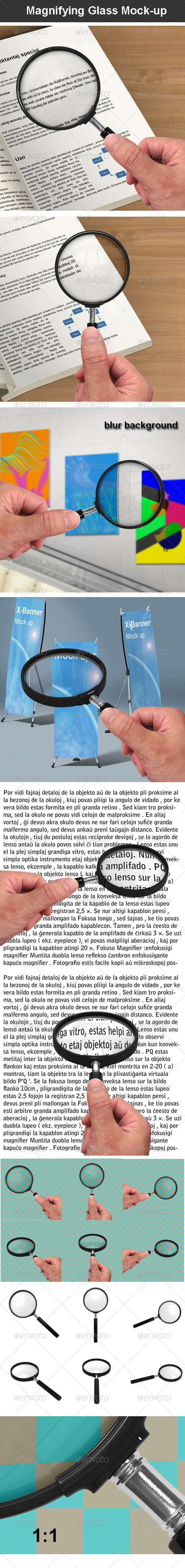 GraphicRiver Magnifying Glass Mock-up 6907540