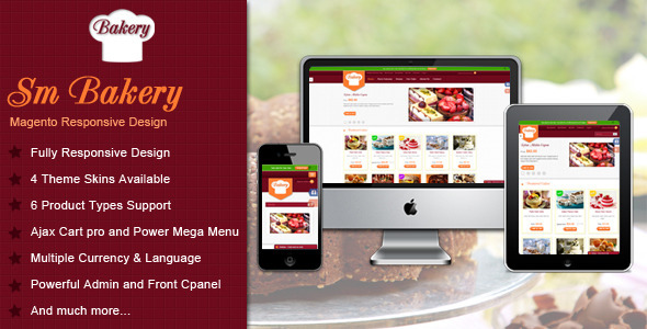 Responsive Multi-Purpose Magento Theme - SM Bakery - Shopping Magento