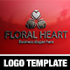 Floral Heart Logo Template - GraphicRiver Item for Sale