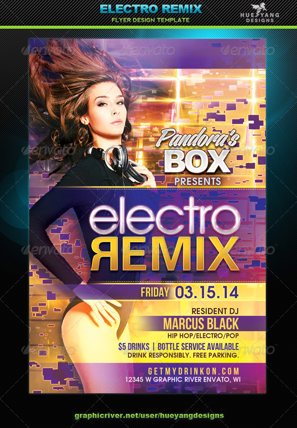 GraphicRiver Electro Remix Flyer 6908109