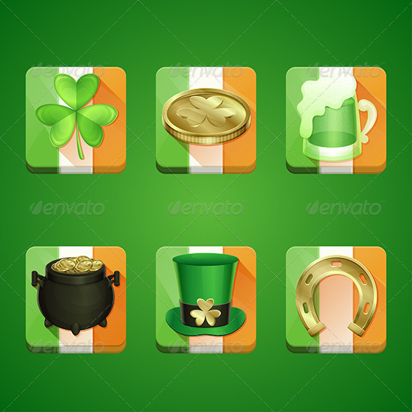 GraphicRiver Icons St Patrick s Day 6908111