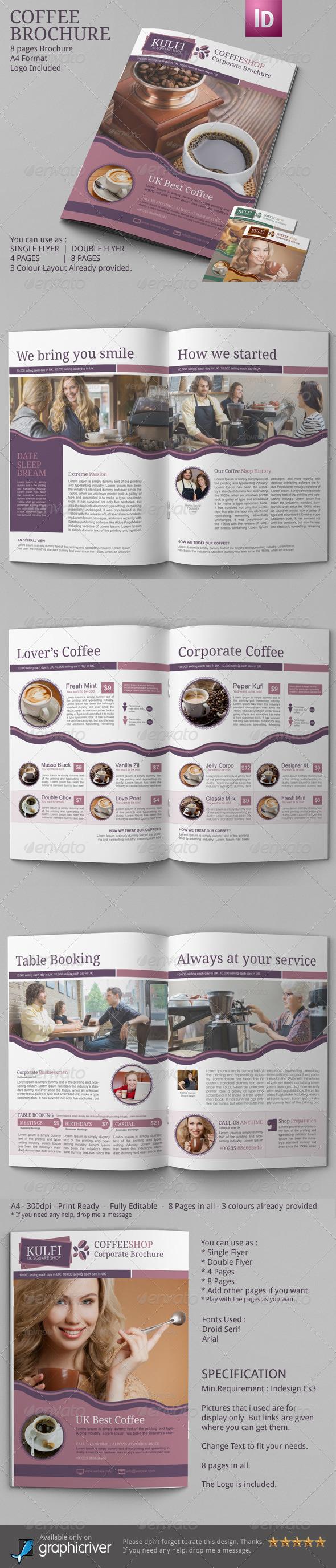 GraphicRiver Coffee Brochure Template A4 6899113