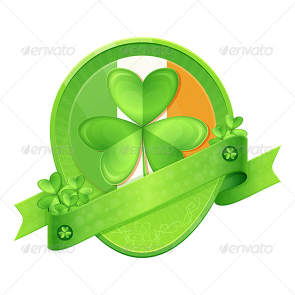 GraphicRiver Sticker Shamrock St Patrick s Day 6908180