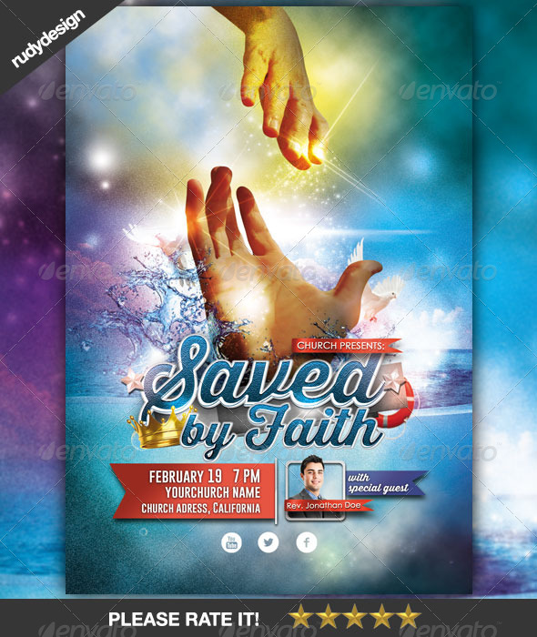 GraphicRiver Church Saved by Faith Flyer Concept 6900318