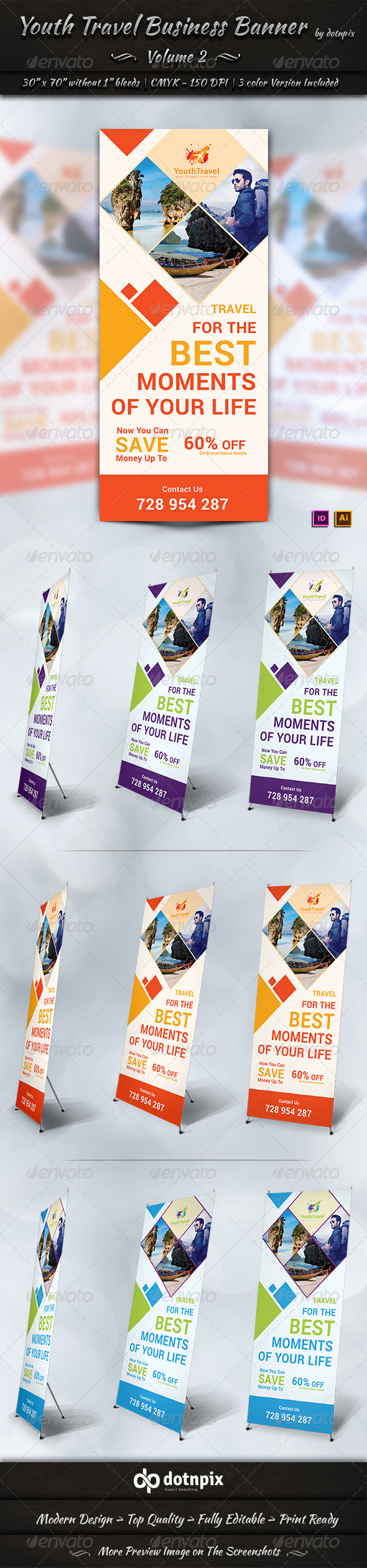 GraphicRiver Youth Travel Business Banner Volume 2 6908337