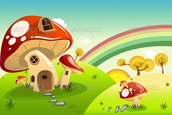 GraphicRiver Mushroom Houses 6908429