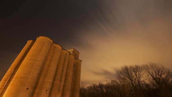Old Silo Night Sky