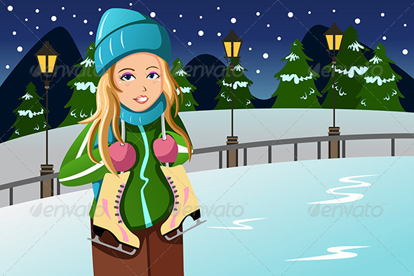 GraphicRiver Winter Girl 6908585