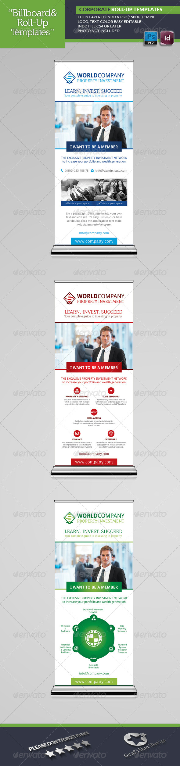 GraphicRiver Corporate Roll-Up Templates 6899021
