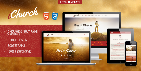 iChurch - Onepage & Multipage Church Template - Banner