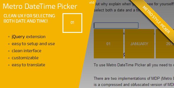 CodeCanyon Metro DateTime Picker 6908980