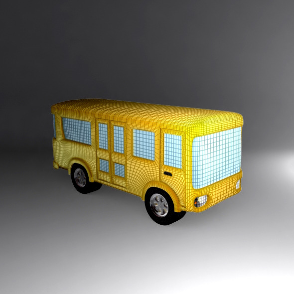 3DOcean Cartoon Bus 6908983