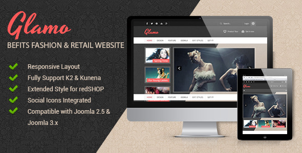 ThemeForest JSN Glamo Befits fashion & Retail websites 6909468