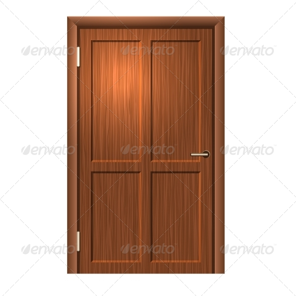 GraphicRiver Realistic Wood Door 6909472
