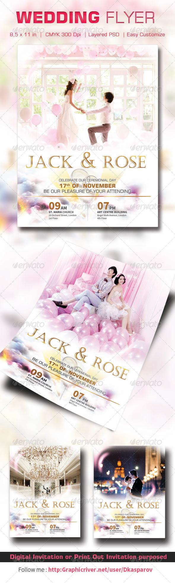 GraphicRiver Wedding Flyer 6909774