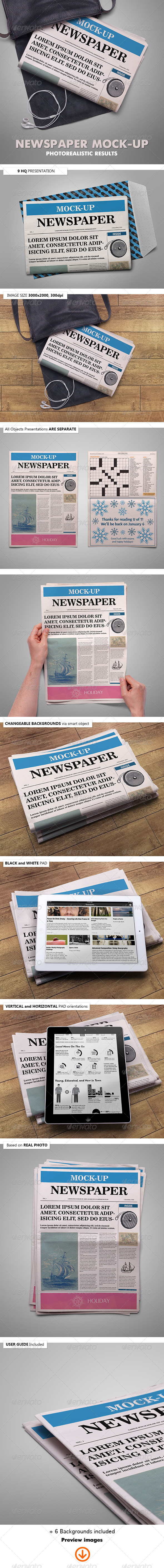 GraphicRiver Newspaper Mock-Up 6906139