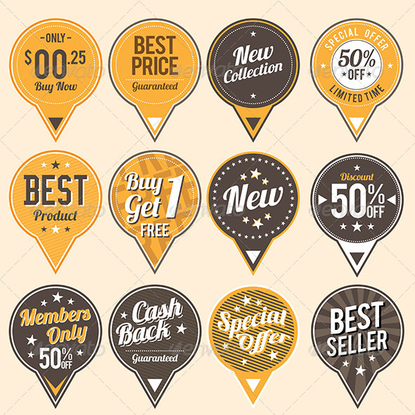 GraphicRiver Retro Quality Labels 6909857