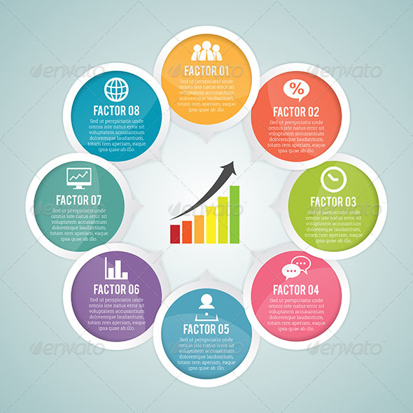 GraphicRiver Round Round Infographic Elements 6909866