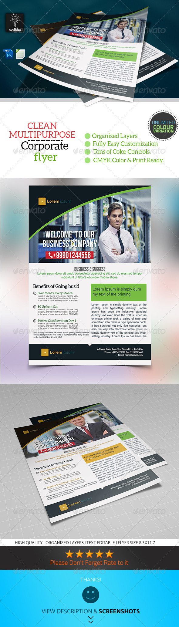 GraphicRiver Corporate Flyer Template Business Vol04 6910003