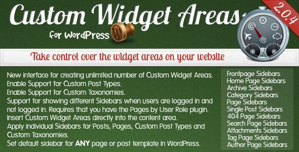 Custom Widget Areas for WordPress - CodeCanyon