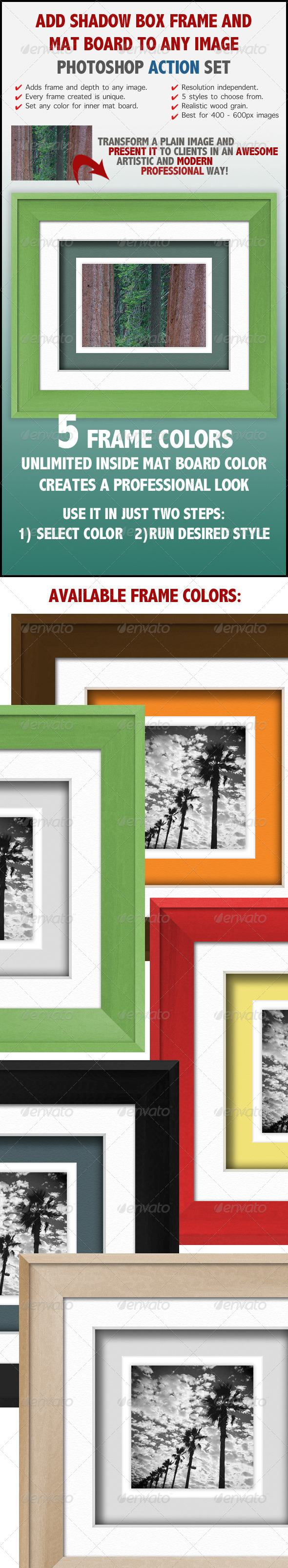GraphicRiver Shadow Box Wood Frame Actions 6910102