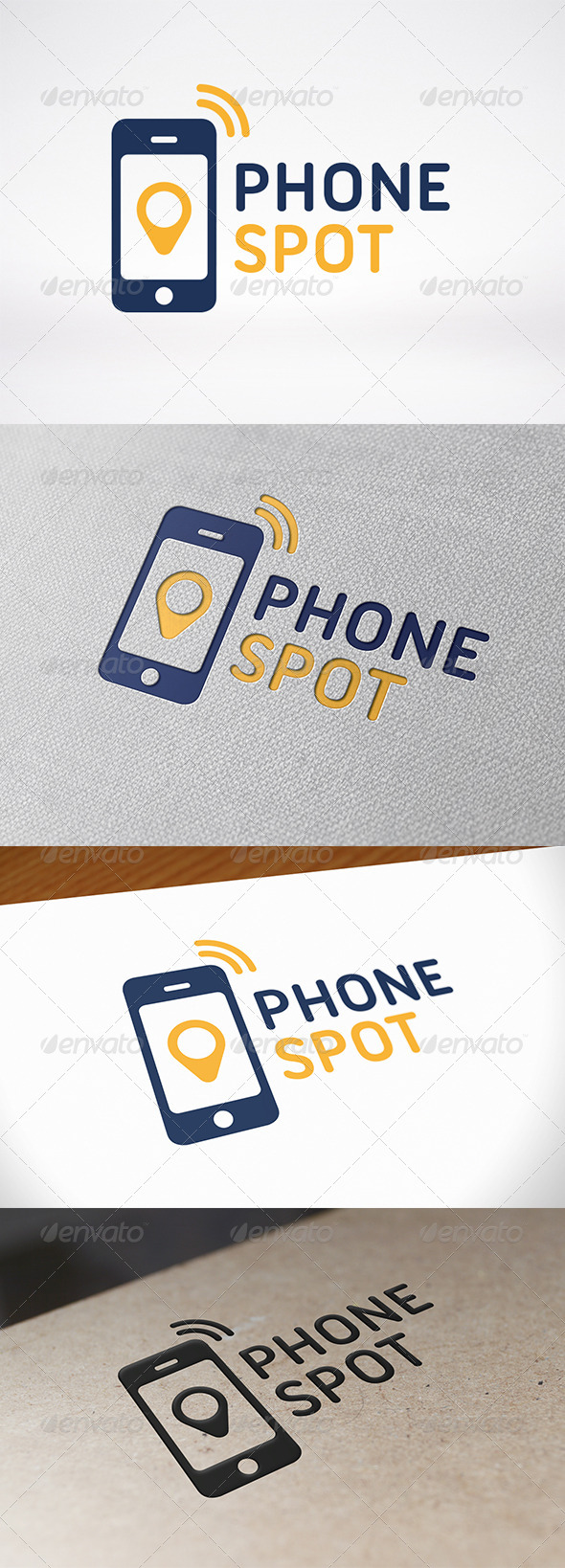 Phone Locator Logo Template