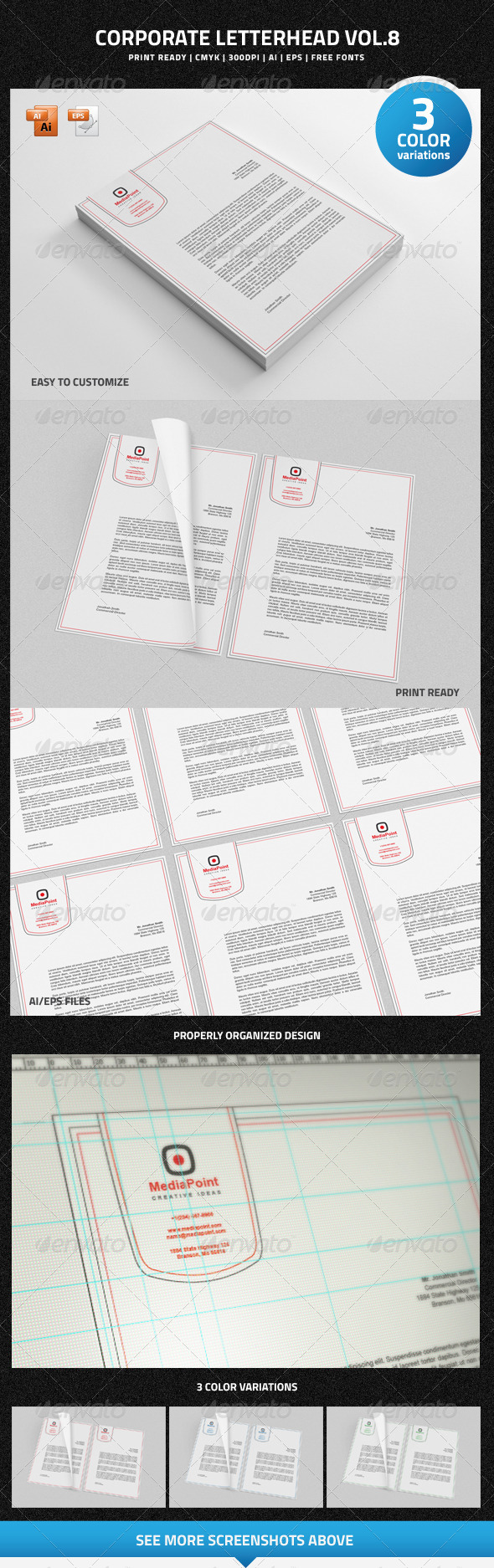 GraphicRiver Corporate Letterhead vol.8 6910143