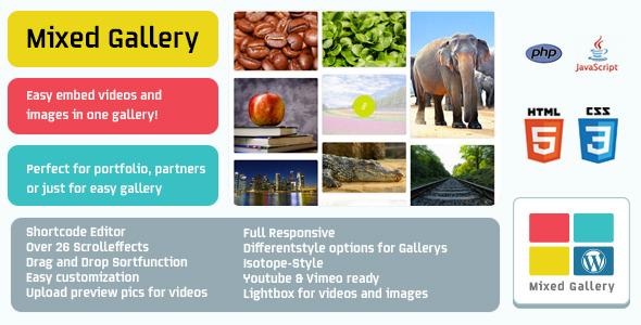 CodeCanyon WP Mixed Gallery 6910176