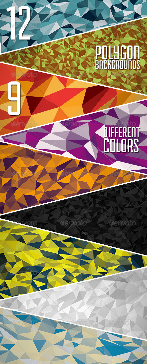 GraphicRiver The Abstract Polygon Backgrounds Vol.3 6910418