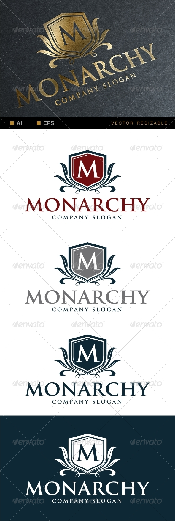 GraphicRiver Monarchy Logo Template 6910468