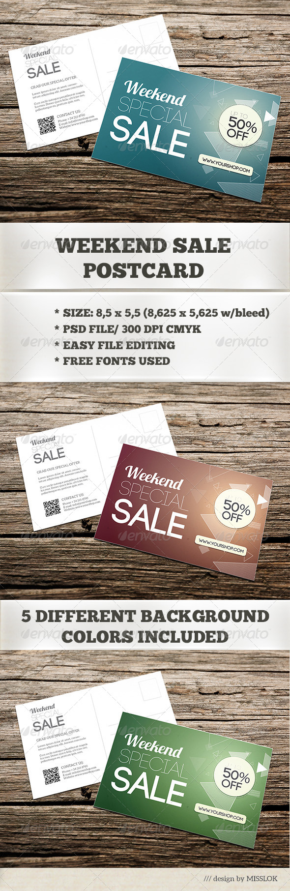 GraphicRiver Weekend Sale Postcard Mailer 6910529