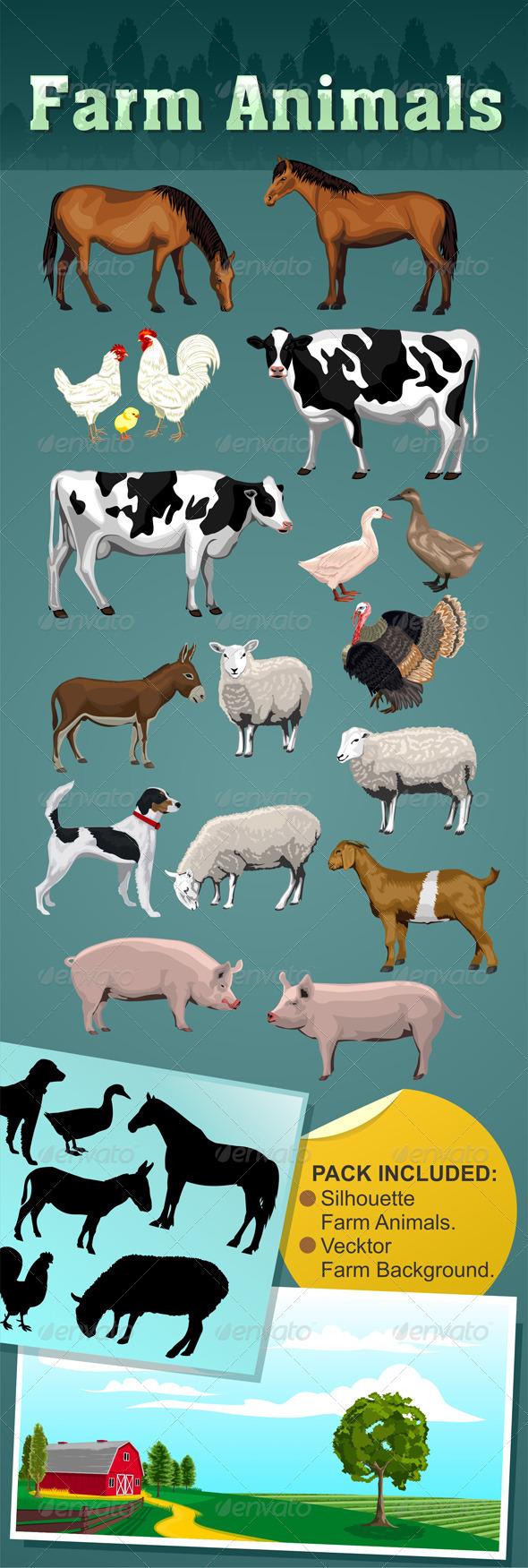 GraphicRiver Farm Animals 6898670