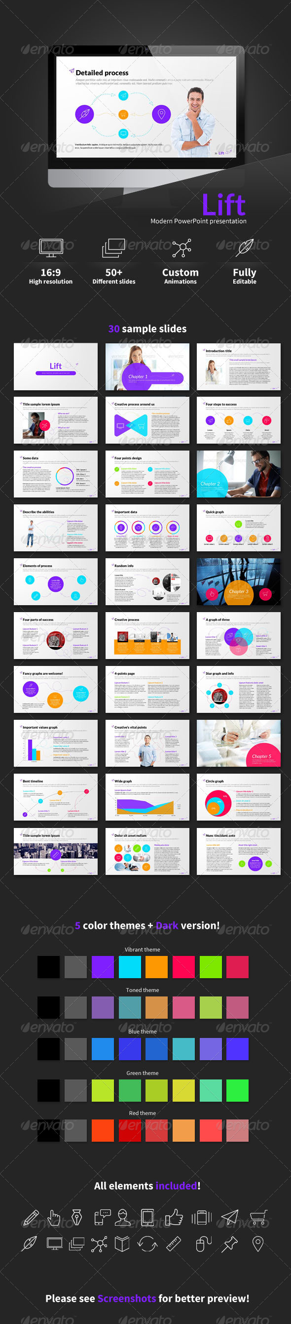 GraphicRiver Lift PowerPoint presentation 6910621