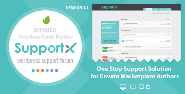 ThemeForest SupportX Envato API Enabled Support Forum 6524882