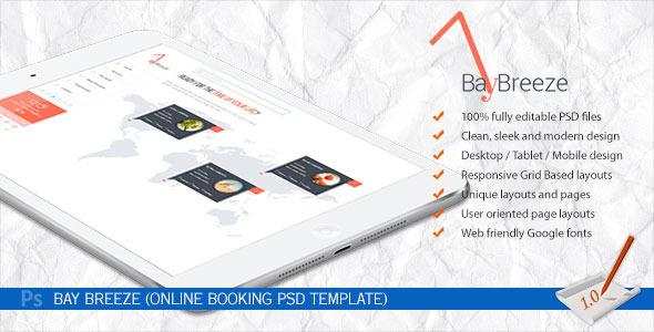ThemeForest Bay Breeze Online Booking PSD Template 6911920