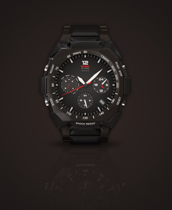 3DOcean Rugged Watch 675131